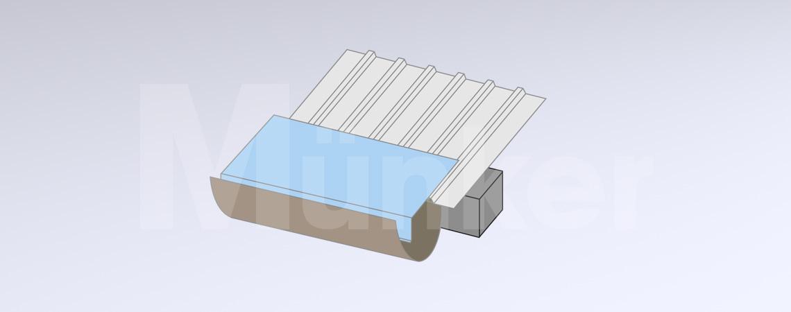 Wasserleitblech Grafik