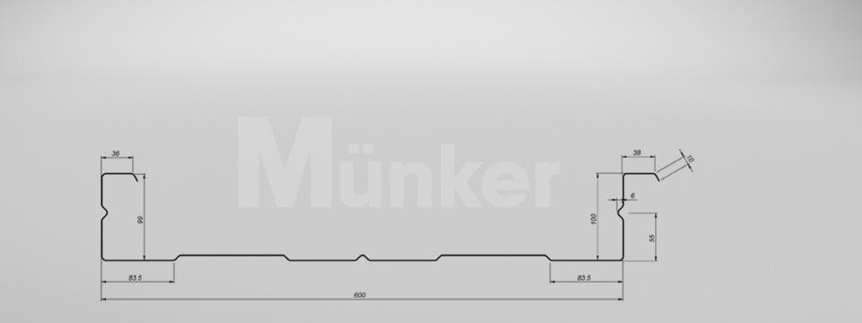 M 100/600 CAD-Zeichnung negativ