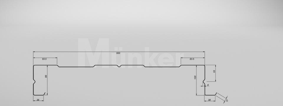 M 100/600 CAD-Zeichnung positiv