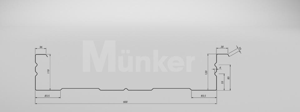 M 120/600 CAD-Zeichnung negativ