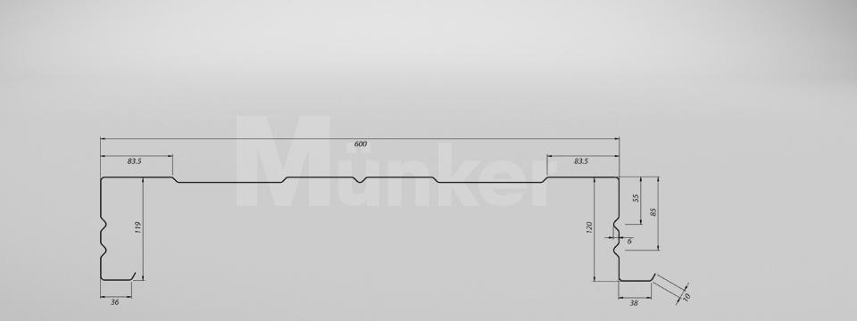 M 120/600 CAD-Zeichnung positiv