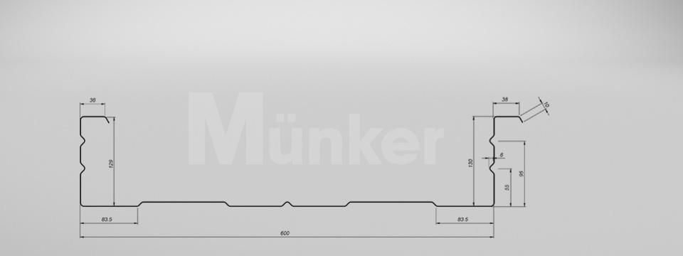 M 130/600 CAD-Zeichnung negativ