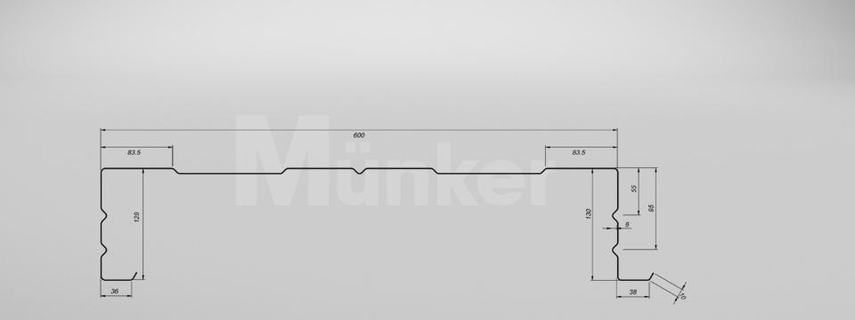 M 130/600 CAD-Zeichnung positiv