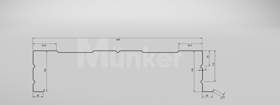 M 145/600 CAD-Zeichnung positiv