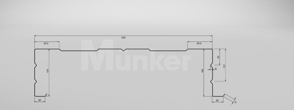 M 160/600 CAD-Zeichnung positiv