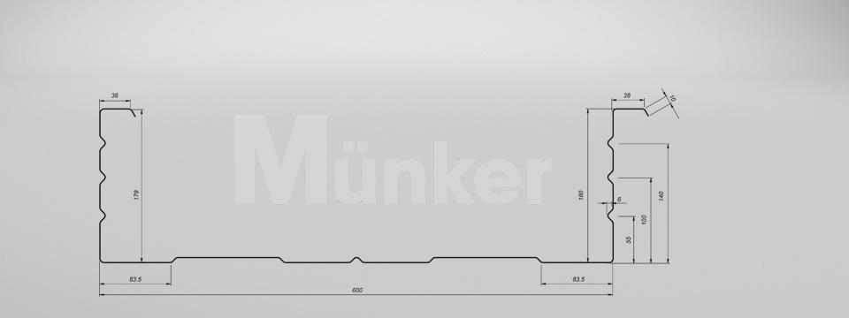 M 180/600 CAD-Zeichnung negativ
