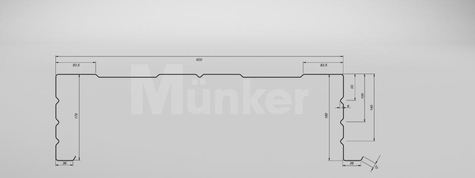M 180/600 CAD-Zeichnung positiv