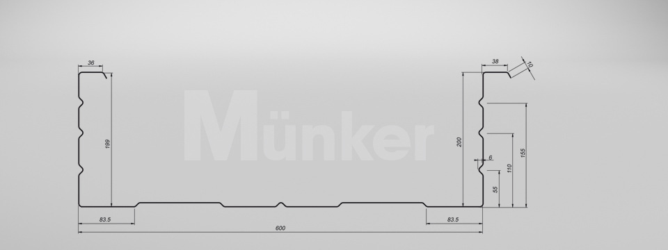M 200/600 CAD-Zeichnung negativ