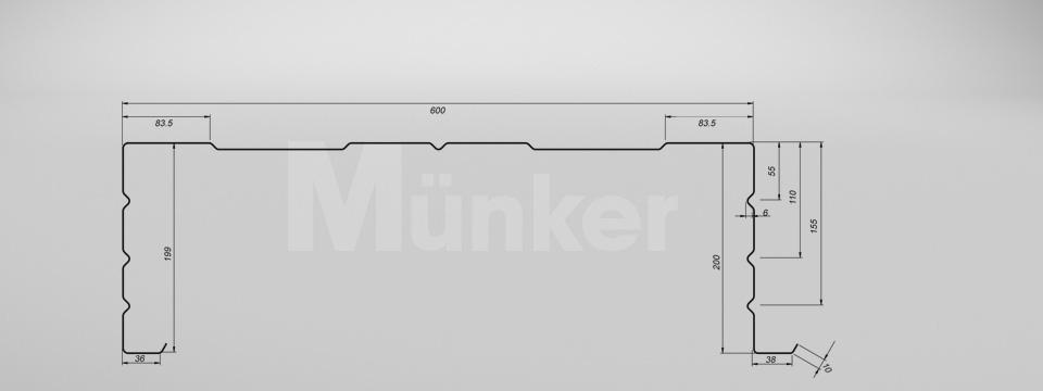 M 200/600 CAD-Zeichnung positiv