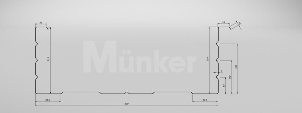 M 220/600 CAD-Zeichnung negativ