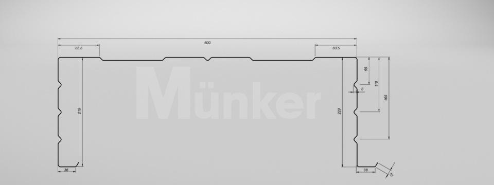 M 220/600 CAD-Zeichnung positiv