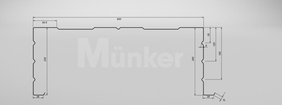 M 240/600 CAD-Zeichnung positiv