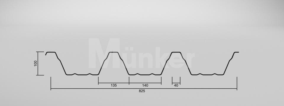CAD Zeichnung M 100/275 negativ