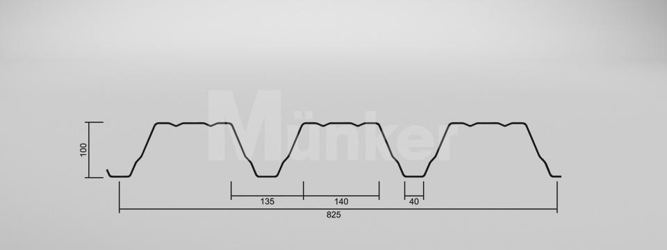 CAD Zeichnung M 100/275 positiv