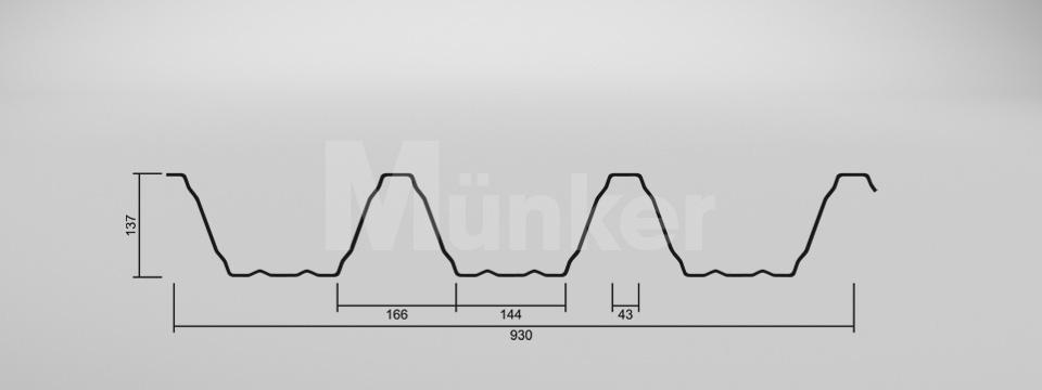 CAD Zeichnung M 135.1/310 negativ