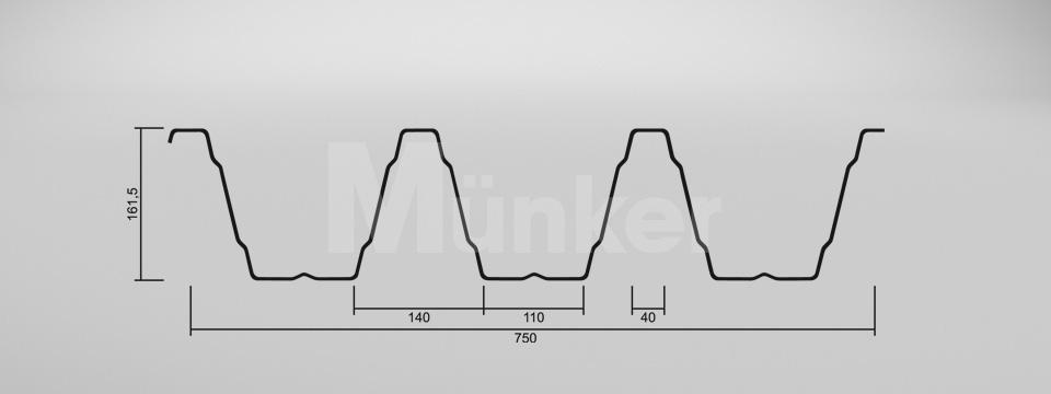 CAD Zeichnung M 160/250 negativ