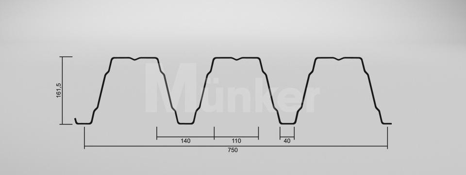 CAD Zeichnung M 160/250 positiv