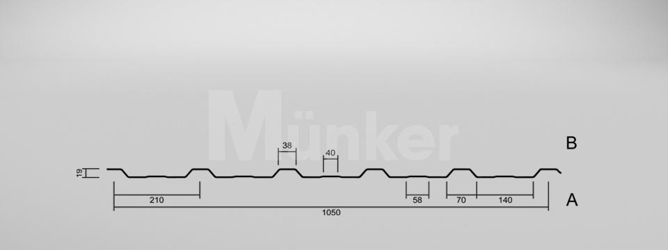 CAD Zeichnung M 20/210 negativ