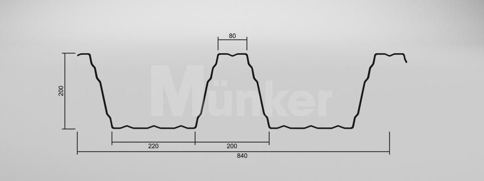 CAD Zeichnung M 200/420 negativ