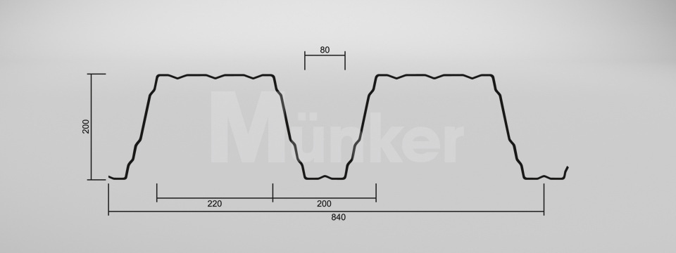 CAD Zeichnung M 200/420 positiv