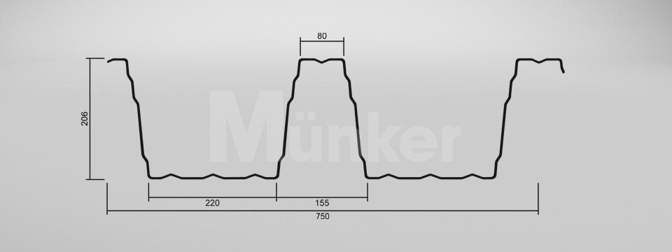 CAD Zeichnung M 206/375 negativ