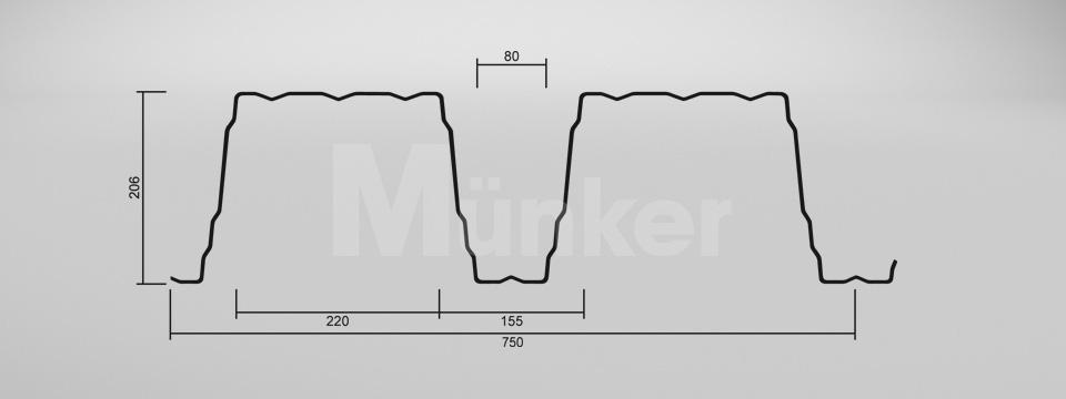 CAD Zeichnung M 206/375 positiv