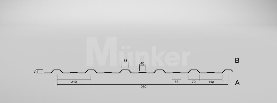 CAD-Zeichnung M 20KD/210 negativ