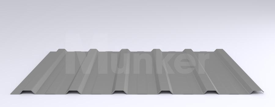 Trapezprofil M 20KD/210 MÜC 9006, Weißaluminum, negativ