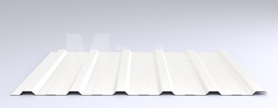 Trapezprofil M 20KD/210 MÜC 9010, Reinweiß, negativ