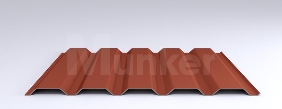 Trapezprofil M 35.1/207 MÜC 8004, Kupferbraun, positiv