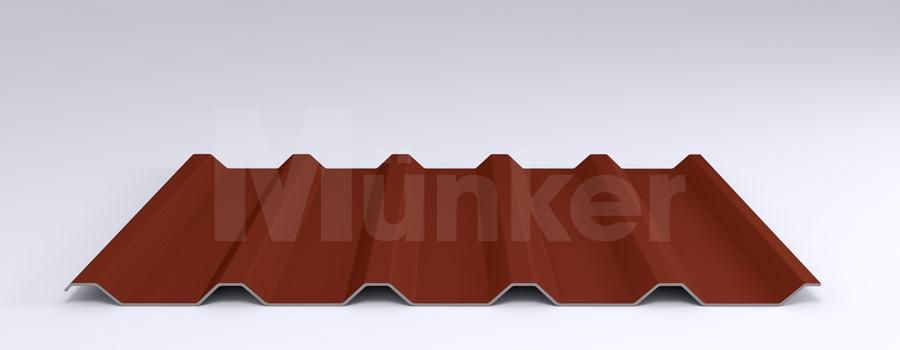 Trapezprofil M 35.1/207 MÜC 8012, Rotbraun