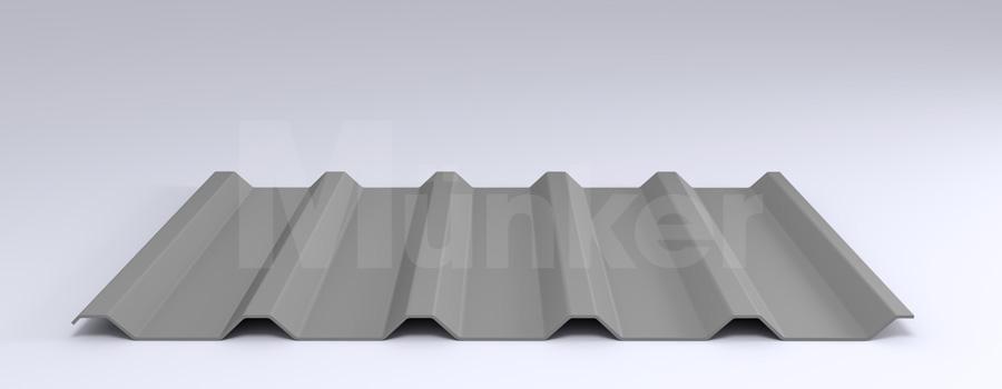 Trapezprofil M 35.1/207 MÜC 9006, Weißaluminium