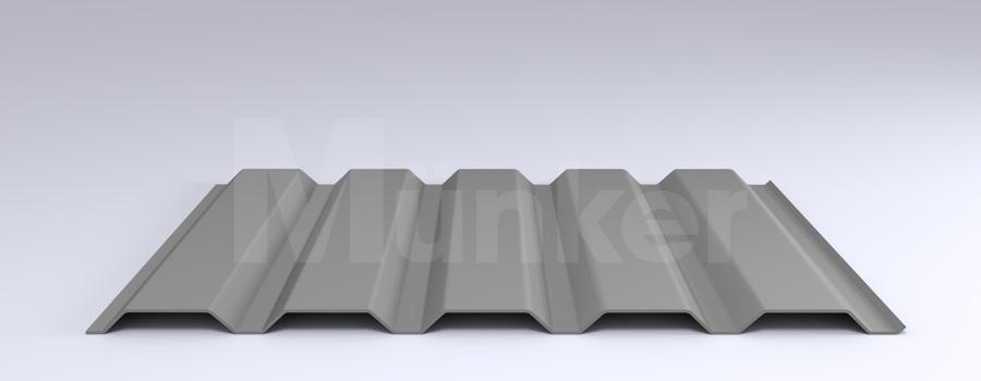 Trapezprofil M 35.1/207 MÜC 9006, Weißaluminium, positiv