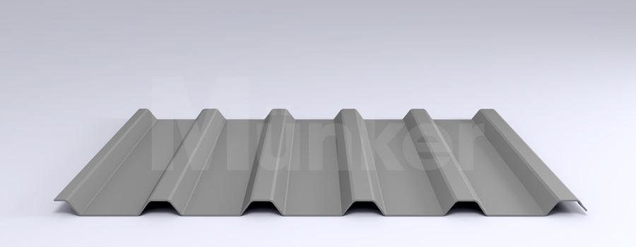 Trapezprofil M 35/207 MÜC 9006, Weißaluminium