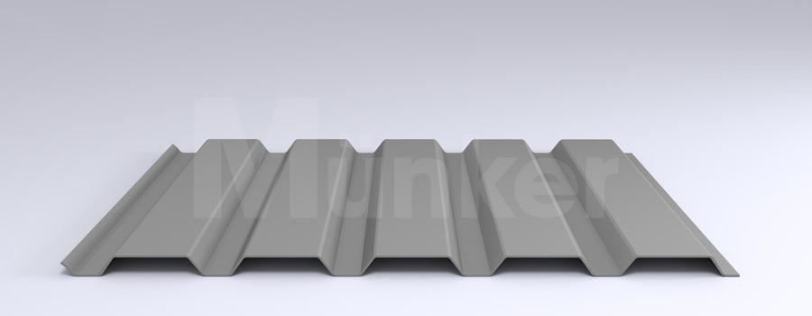 Trapezprofil M 35/207 MÜC 9006, Weißaluminium, positiv