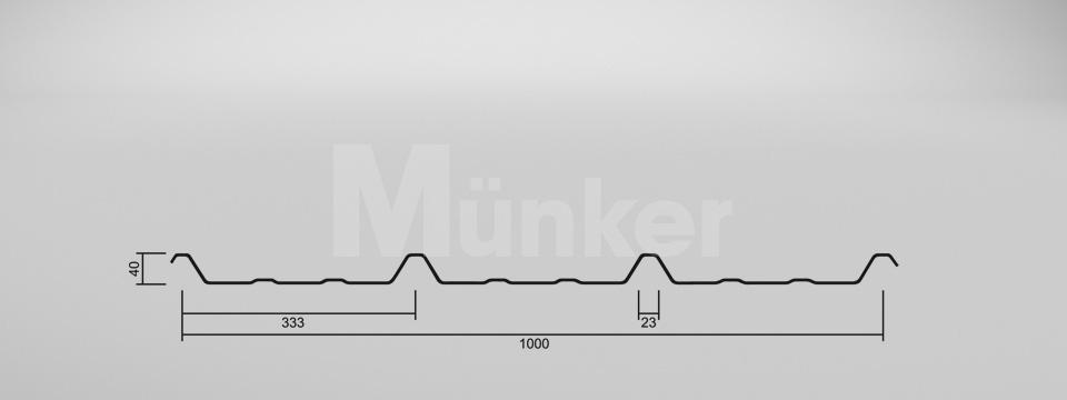 CAD-Zeichnung M 40/333 negativ