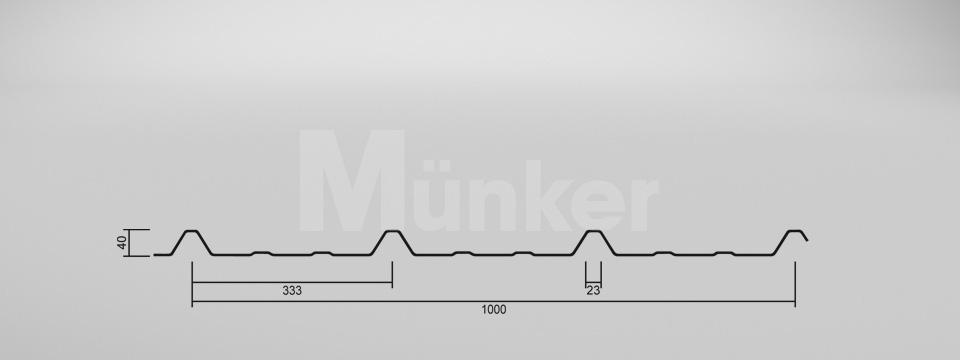 CAD-Zeichnung M 40KD/333 negativ