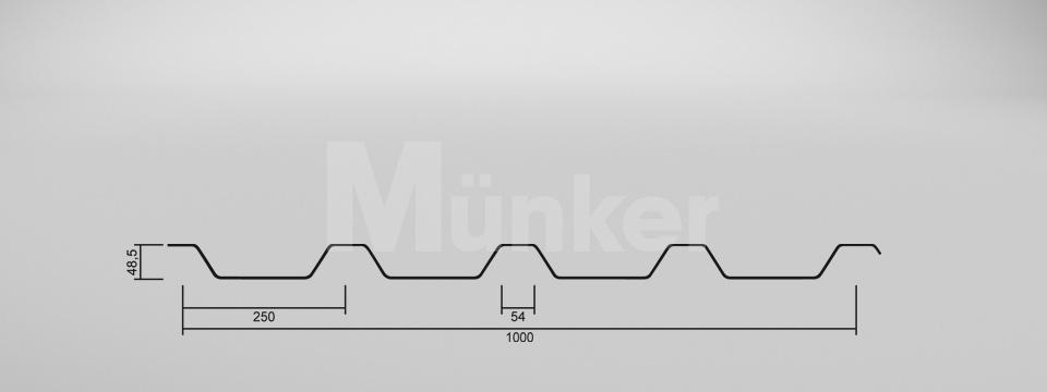 Trapezprofil Zeichnung CAD