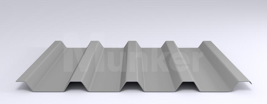 Trapezprofil M 50/250 MÜC 9006, Weißaluminium, negativ