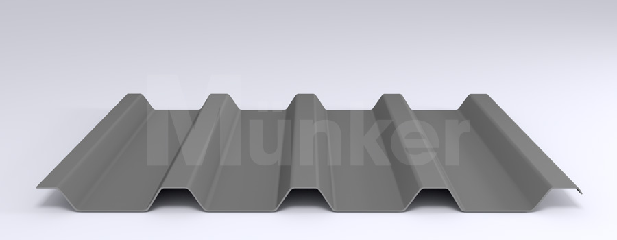 Trapezprofil M 50/250 MÜC 9007, Graualuminium, negativ