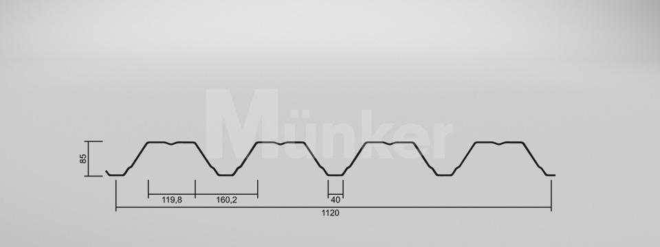 CAD Zeichnung M 85/280 positiv