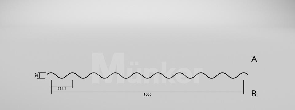 CAD-Zeichnung M 27.1/111 negativ