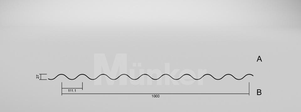 CAD-Zeichnung M27/111 negativ
